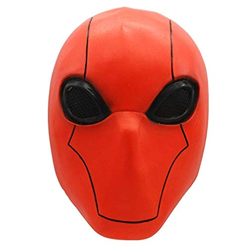 FUGUI Spandex Costume Red Hood Mask für Rosenmontag Karneval Kostüm