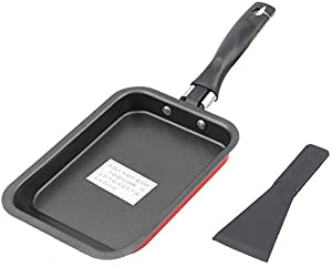 Fry Pan Stainless Fry Pan Kitchen Pot Nonstick Carbon Steel Frying Pan with Turner Tamagoyaki Eggs Roll Maker Sushi Omelette Fry Pans Mini Rectangular