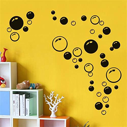 YUIOP Diy WandKinder Badezimmer Waschraum Duschfliesen Abnehmbare Dekor Home Decal Wandbild DekorativeBlasen