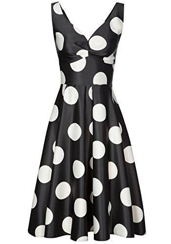 Nicowa Damen Elegantes Kleid PIA mit stilvollem Punkte-Dessin