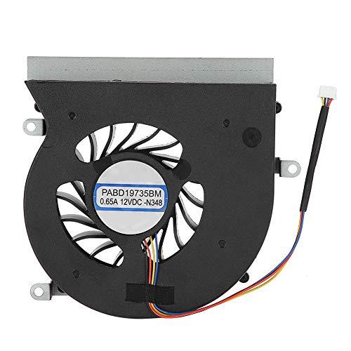 ASHATA Ventilador de Refrigeración 4 Pines para CPU de Computadora Compatible con MS-16L1/MS-16L2/serie MSI GT62VR/MSI GT62VR 6RE/MSI GT62VR 7RE/MSI GT62VR Dominator Pro,Accesorio de Refrigeración