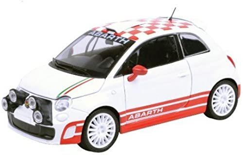 Fiat Abarth 500 R3T Weiß 1 24 by Motormax 73379 by Motormax