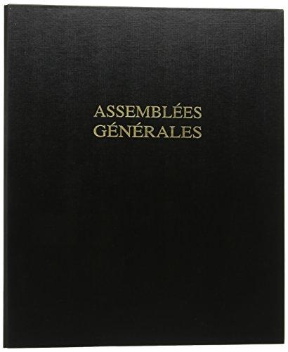 Le Dauphin Reliure spécialisée Assemblées générales qualité standard avec 100 feuillets Noir