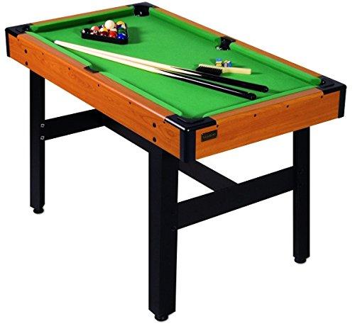 Carromco Pool Billardtisch für Kinder Orion-XT - Mini Billiardtisch mit Zubehör - Tisch Billard Set mit 16 Billardkugeln, 2 Queues, Triangel, Kreide und Bürste, justierbare Füße gegen Unebenheiten