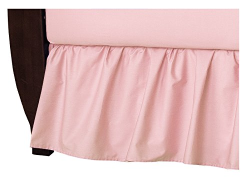 American Baby Company 100% Natural Cotton Percale Ruffled Crib Skirt, Blush Pink, Soft Breathable, for Girls