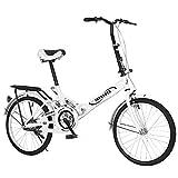 LINMOUA 20 inch Folding Bikes for Adults Teens,Ultra-Light Portable City Folding Bike Bicycle, Mini Protable City Coummter Bike Folding Compact Suspension Bike Bicycle for Man Women