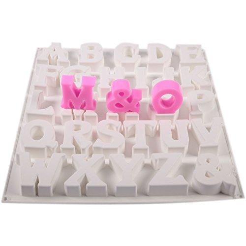mytortenland Alphabet 3D Groß ca. 6 cm Silikon Form