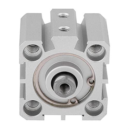 Pannow Cilindro de aire, Doble actuación del cilindro de aire DA25-10 de 25 mm de diámetro de 10 mm de carrera de aluminio de doble efecto cilindro de aire neumático