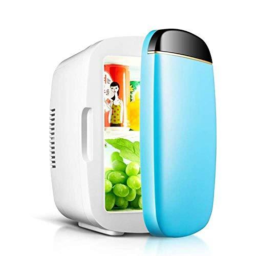 6L Auto Kühlschrank, Mini-Kühlschrank, Heizung und Kühlbox, Auto Haushalt tragbaren Drei-Farben-kleinen Kühlschrank,Blau,Einheitsgröße