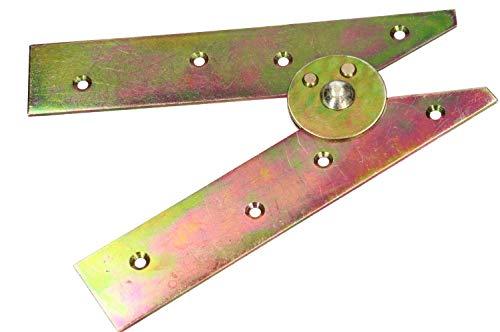 KOTARBAU Bisagras para escalera de 200 mm, color amarillo, galvanizadas, para escalera plegable, sin ganchos, bisagras robustas 5907465909587, dorado/galvanizado