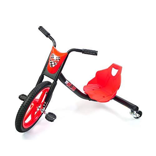 Bibee Drift Rider 360 Dreirad, Unisex, Kinder, Rot/Schwarz