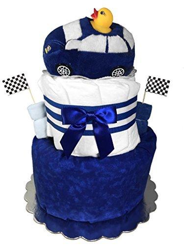 Racecar Diaper Cake for a Boy - Newborn Gift - Baby Shower Centerpiece