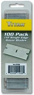 Titan 11038 Single Edge Razor Blades, 100-Piece
