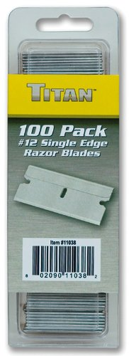 Titan 11038#12 Single Edge Razor Blade - 100 Piece