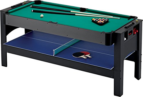 Fat Cat Original 3-in-1, 6-Foot Flip Game Table (Air Hockey, Billiards...