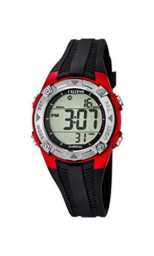 Calypso Unisex Chronograph Quarz Uhr mit Silikon Armband K5685/6