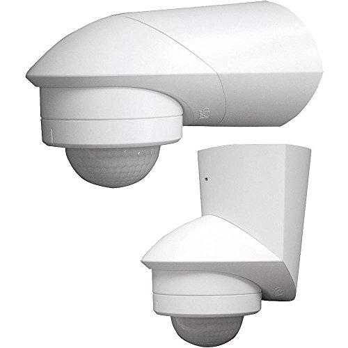 Grothe 5167039 Bewegungsmelder Grad 230 V, Aufputz, IP55, Mc Guard Professional Line BM 120 ws, weiß