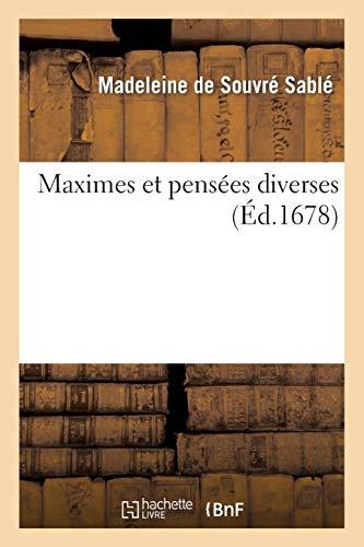 Sable-M: Maximes Et Pens�es Diverses (Litterature)