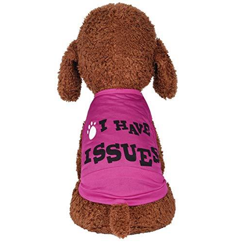 Haustierbekleidung 2019 Kleine Hunde-Bekleidung T-Shirt Weste Sommer Hundekostüm Weiches und Bequemes Briefdruck Hund Pullover für Kleine und Mittlere Hunde Katze Welpen TWBB