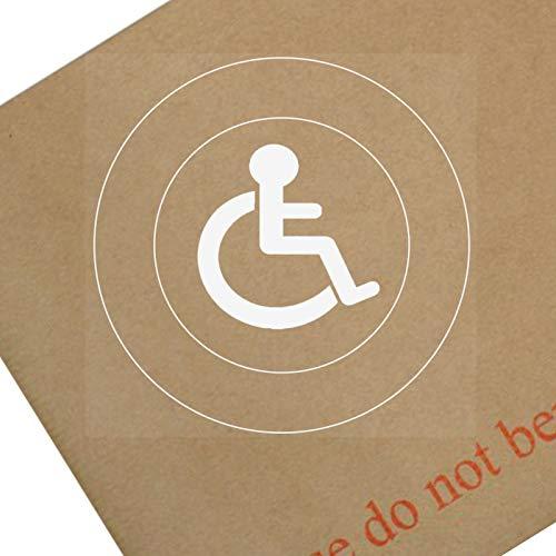 1x discapacitados Logo only-round-window sticker-sign, coche, insignia, aviso, alerta, silla de ruedas, conductor, niño, discapacidad, rampa, acceso, azul, insignia, I, AM, persona