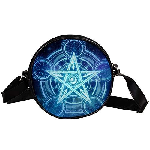 Bolso Círculo Tetragrámaton Papel pintado -bandolera Mini de lona - Símbolo de protección