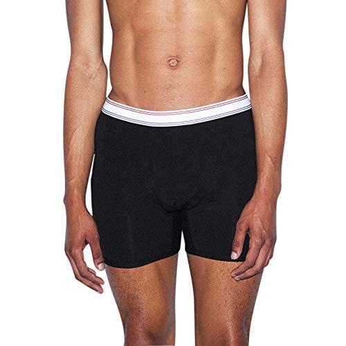 American Apparel Herren Cotton Spandex Boxer Brief Slip, schwarz, Medium
