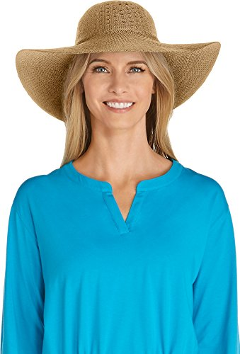 Coolibar UPF 50+ Women's Perla Packable Wide Brim Sun Protection Hat
