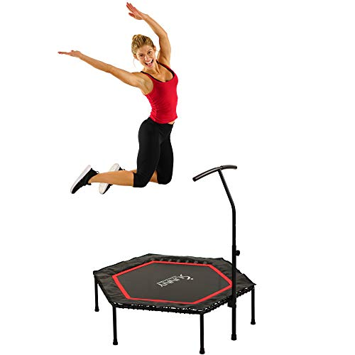 Sunny Health & Fitness NO. 079 Hexagon Trampoline with Premium High Bounce Bungee Cords