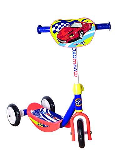 Muuwmi Jungen Kiddyscooter Rennfahrer Scooter, blau, One Size