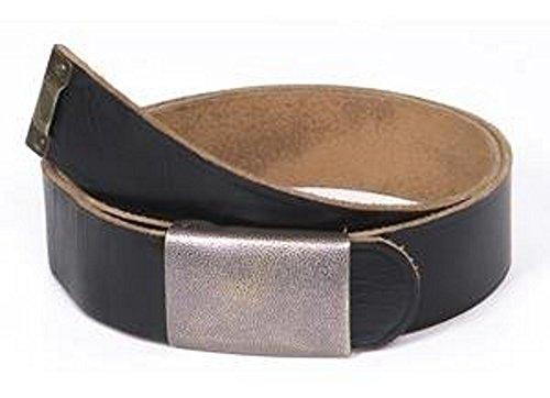 Ledergürtel Hosengürtel Lederkoppel schwarz Länge: 120 cm