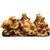 YUXINYAN Buda Decoracion Esculturas de leña Hecha a Mano Estatuas de Madera Que rezan por bendiciones y Riqueza Decoración Feng Shui (Color : A 17cm)