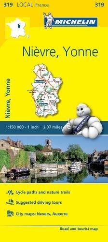 Preisvergleich Produktbild Nievre,  Yonne - Michelin Local Map 319
