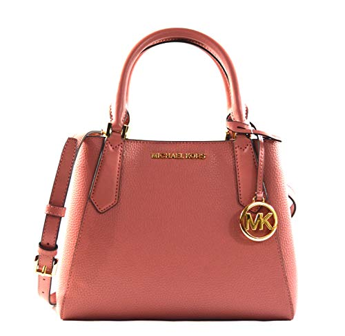 """Made of pebbled leather Unlined interior Interior 3 compartment with middle zip pocket Open top with magnetic snap closure 10""""(L) X 8""""(H) X 4.5""""(D), Dual handles with adjustable, detachable crossbody strap with 21"""" Drop"""