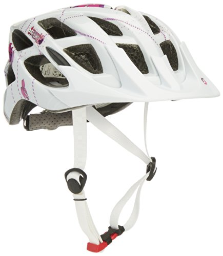 Scott Mädchen Fahrradhelm Spunto Contessa, White/Purple, 50-56