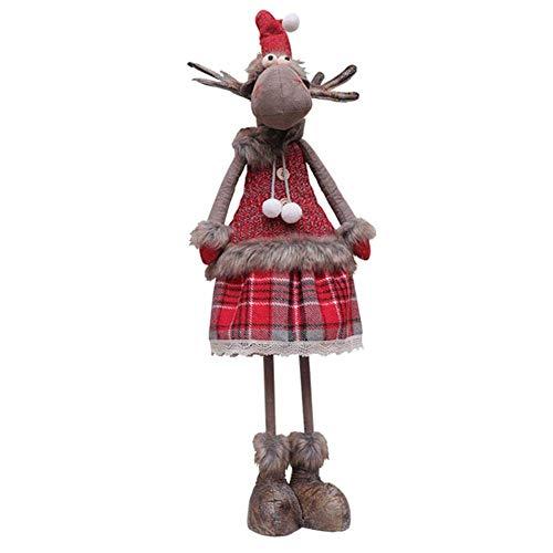 FENGLI Muñeca de Tela de Navidad, Alces Navidad Mascota Ventana Decoración Figuras para Chimenea de Navidad Decoración del hogar Beneficioso (Color : Female)