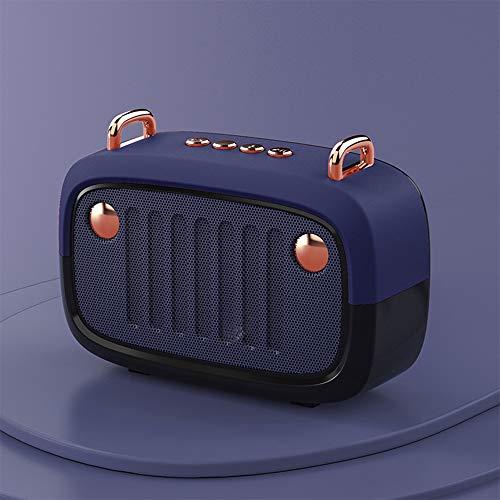 Altavoz Bluetooth multifunción, altavoz Bluetooth impermeable con micrófono integrado, entrada de audio USB, radio FM, altavoces Bluetooth portátiles para el hogar y fiesta al aire libre (azul)