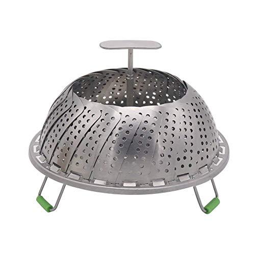 Cesta de acero inoxidable para vaporizador de verduras, ajustable, plegable, para olla...