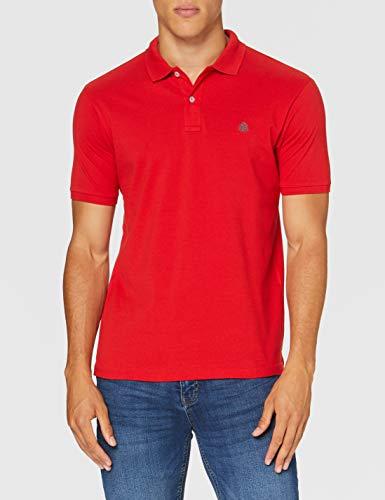 Springfield Herren 5ba Slim Basic-c/61 Poloshirt, Rot (Red 61), Medium