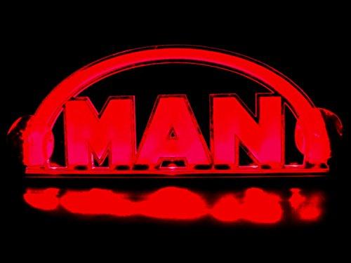 Innenbeleuchtung, 24 V, LED-Basis, 3D-Platte für MAN-Lkws, beleuchtetes Tischschild (Rot)