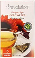 Revolution Tea, Dragon Eye Oolong Tea, 16 Flow-through Infuser Bags in a Stay-fresh Container by Revolution Tea