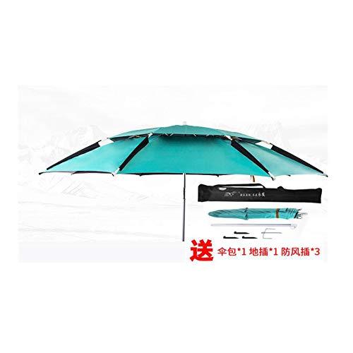 YAMEIJIA Visparaplu universele vouwen regendichte outdoor vissen paraplu schaduw zon vouwen vissen paraplu verdikte vissen paraplu, Mint Groen