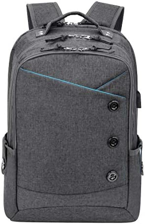 KINGSLONG Laptop Backpacks for Travel College Business Men Women 17 Inch Grey product image