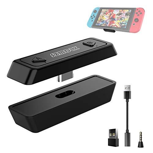 Bluetooth Adapter, Audio Transmitter USB-C Bluetooth Dongle 5.0 mit Sprachübertragung, Unterstützung Zwei Geräte, kompatibel mit Bluetooth Kopfhörer / Lautsprecher Sony für Nintendo Switch, PS4, PC