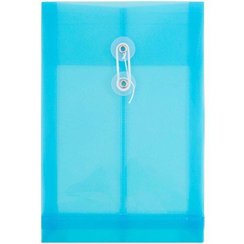 JAM Paper プラスチック封筒 ボタンと紐留め付き 6 1/4インチ x 9 1/4インチ