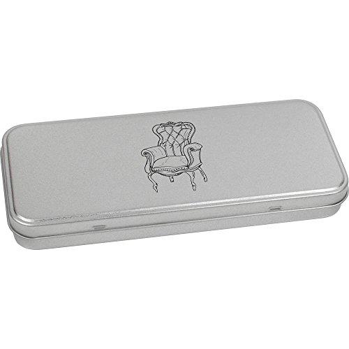 Azeeda 180mm x 75mm 'Chaise Vintage' boîte de Papeterie métal (TT00038593)