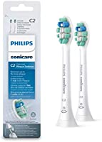 Philips Sonicare HX9022/10 Pack da 2 Testine di Ricambio C2 Optimal Plaque Defence per Spazzolino Elettrico Sonico, con...