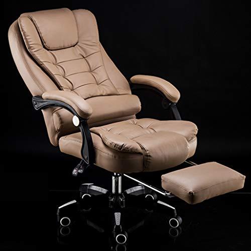Chair Multifunktionaler Drehstuhl, High-End-Business-Stuhl, Home Office, Bürostuhl, Armlehne für Ingenieurstudium, verlängerte Rückenlehne und erweiterter Taillenbereich, Lange Lebensdauer