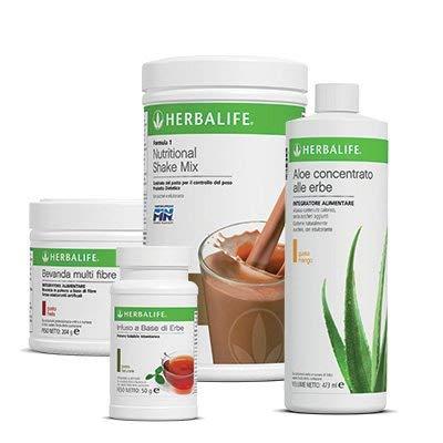Herblife 1 F1 CACAO + 1 BEVANDA MULTIFIBRE + 1 INFUSO NATURALE + 1 ALOE NATURALE - Programma Colazione Equilibrata e Perdita Peso