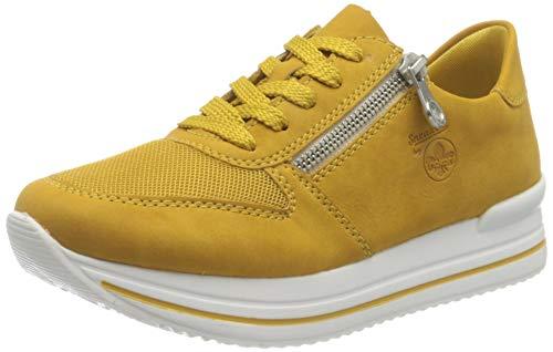 Rieker Damen N7321 Sneaker, gelb, 39 EU