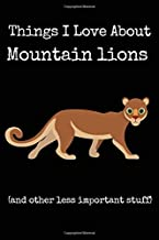 Things I Love About Mountain Lions (and other less important stuff): Blank Lined Journal